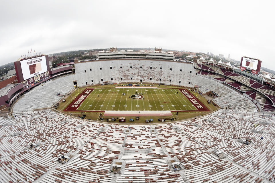 Saturday's Clemson at Florida State game was postponed just hours before kickoff. (Photo by Don Juan Moore/Getty Images)