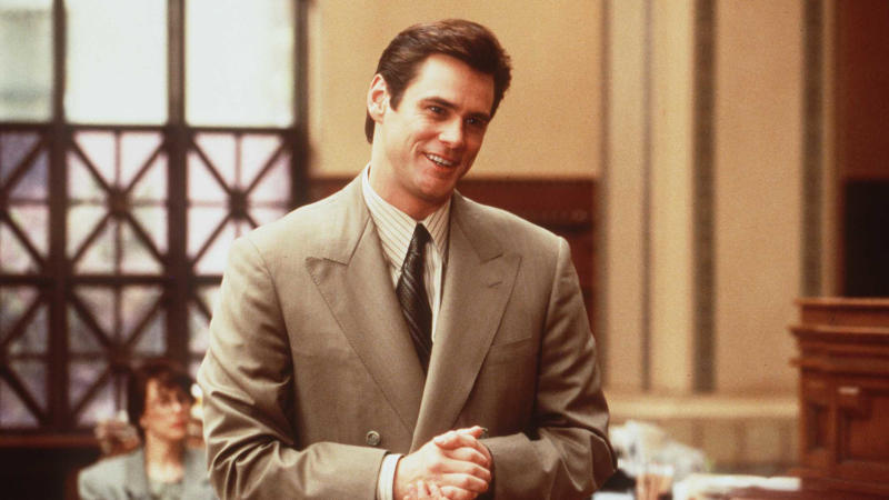 Jim Carrey in the 1997 comedy 'Liar Liar'. (Photo by Getty Images)