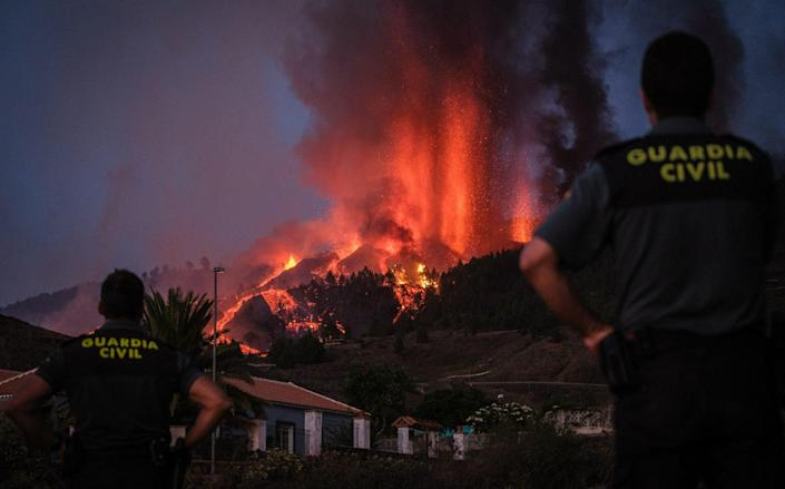 The Cumbre Vieja volcano erupted on Spain's Canary Islands today - Andres Gutierrez/Anadolu