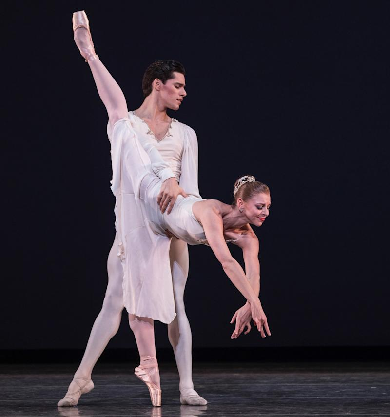 Lauren Fadeley performs in Miami City Ballet's production of George Balanchine's 'Walpurgisnacht Ballet.' (Daniel Azouley)