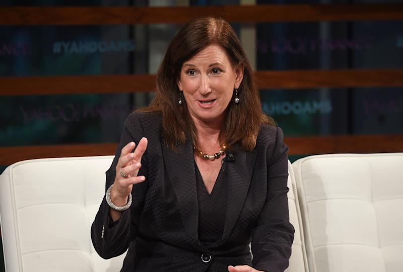 Deloitte CEO Cathy Engelbert participates in the Yahoo Finance All Markets Summit: A World of Change at The TimesCenter on Thursday, Sept. 20, 2018, in New York. (Photo by Evan Agostini/Invision/AP)