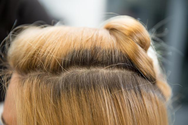 What to do if your roots are coming through. (Getty Images)