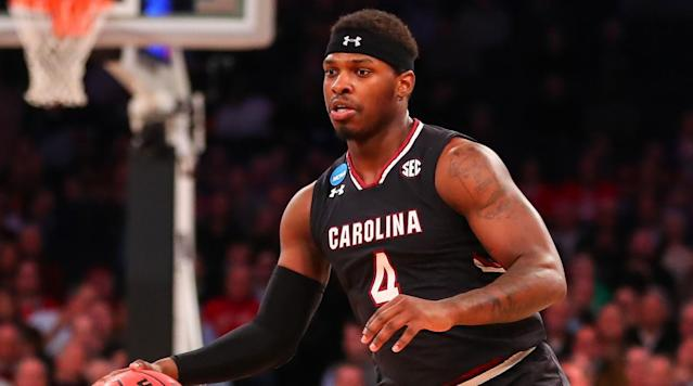 "<p>South Carolina guard Rakym Felder has been suspended indefinitely from the team and will not attend class in the fall, head coach Frank Martin <a href=""http://www.postandcourier.com/sports/gamecocks-rakym-felder-suspended-indefinitely-from-men-s-basketball-team/article_d2b50912-82af-11e7-b2c0-9704078b5e76.html"" rel=""nofollow noopener"" target=""_blank"" data-ylk=""slk:announced Wednesday."" class=""link rapid-noclick-resp"">announced Wednesday.</a></p><p><a href=""http://www.postandcourier.com/sports/gamecocks-rakym-felder-suspended-indefinitely-from-men-s-basketball-team/article_d2b50912-82af-11e7-b2c0-9704078b5e76.html"" rel=""nofollow noopener"" target=""_blank"" data-ylk=""slk:According to the Post and Courier"" class=""link rapid-noclick-resp"">According to the<em> Post and Courier</em></a>, Felder has been suspended since June 30, the day he was part of an altercation outside a bar in Columbia, S.C., in which he allegedly spit on a woman. Felder was later charged with assault and battery third degree, which is the least form of assault and battery under state criminal code.</p><p>""Due to some unfortunate decisions by Rakym, he has been suspended indefinitely from our program,"" Martin said in a statement. ""I will continue to help Rakym grow as a young man even though basketball is not part of our relationship right now.""</p><p>""I'm very sorry for my recent behavior that led to my arrest and school suspension. I take full responsibility for my actions and make no excuses for my conduct,"" Felder said in a statement through his attorney. ""I apologize to the entire University of South Carolina family including our loyal fans, President Pastides, Board of Trustees, Athletic Director Ray Tanner, coach Martin and his staff, and my teammates. I know I have let you down and I will have to work hard to regain your trust.""</p><p>Felder, a rising sophomore, was a key part of the South Carolina team that made a run to the Final Four last season. He was also arrested in October 2016 on multiple charges including assault and use of a fake ID.</p>"