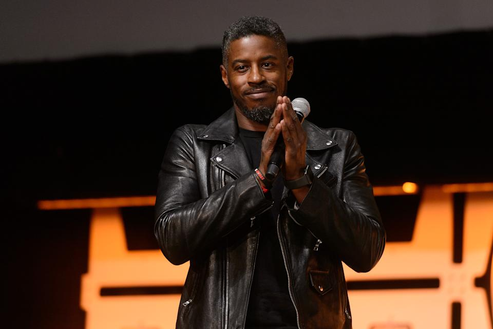 Ahmed Best is seen onstage at Star Wars Celebration on April 11, 2019 in Chicago, Illinois. (Photo by Daniel Boczarski/FilmMagic)