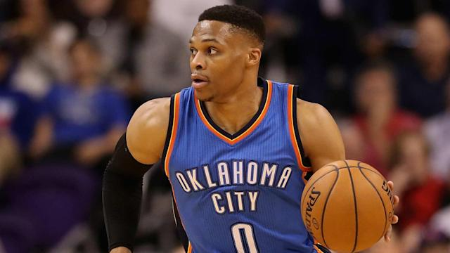 Oklahoma City Thunder star Russell Westbrook continued his incredible form in the NBA.
