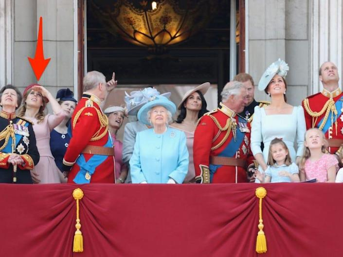Princess Beatrice at Trooping the Colour with the royal family.