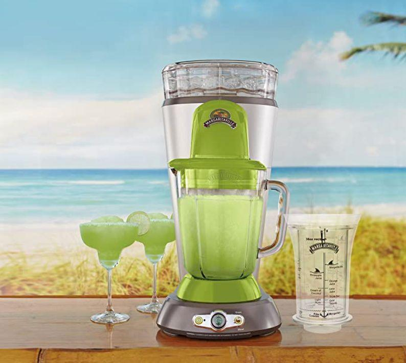 "Gonzalez sang the praises of her <a href=""https://www.amazon.com/Margaritaville-Bahamas-Frozen-Concoction-No-Brainer/dp/B00QZ5CV10?ref_=ast_sto_dp"" target=""_blank"" rel=""noopener noreferrer"">Margaritaville Frozen Concoction Maker</a>, which sells for a little over $200. ""You put the ice in at the top, and it shreds the ice before it blends with the liquid, which gives it more of a slushy feel. It has a better texture and taste.""<br /><br /><strong><a href=""https://amzn.to/3xydOqj"" target=""_blank"" rel=""noopener noreferrer"">Get the Margaritaville Frozen Concoction Maker starting at $235</a></strong>"