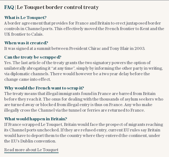 FAQ | Le Touquet border control treaty
