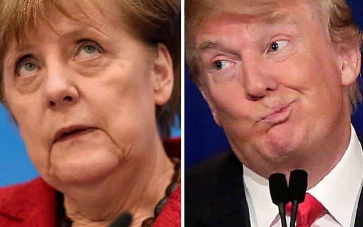 Donald Trump and Angela Merkel are, famously, not the best of friends