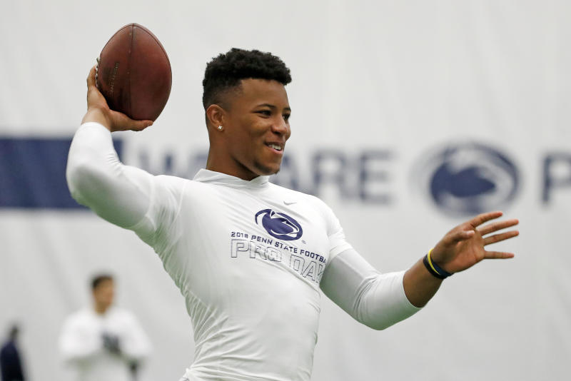 Penn State running back Saquon Barkley told the NFL Network that he was the best player in this draft class. (AP)