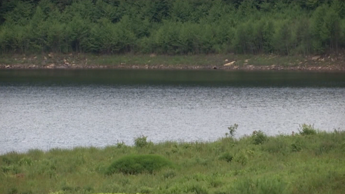 The newly-filled Mountain Lake where 'Dirty Dancing' was filmed (Photo: WSLS via CNN Newsource/Twitter)