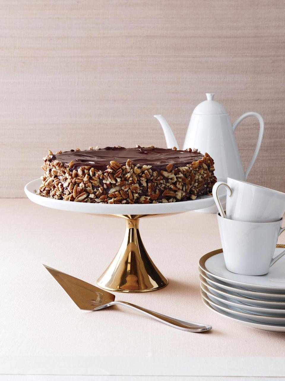 """<p>A touch of espresso in this decadent cake really amps up the chocolate flavor. Try it!</p><p><em><a href=""""https://www.womansday.com/food-recipes/food-drinks/recipes/a11808/flourless-chocolate-cake-recipe-122900/"""" rel=""""nofollow noopener"""" target=""""_blank"""" data-ylk=""""slk:Get the recipe from Woman's Day »"""" class=""""link rapid-noclick-resp"""">Get the recipe from Woman's Day »</a></em></p>"""