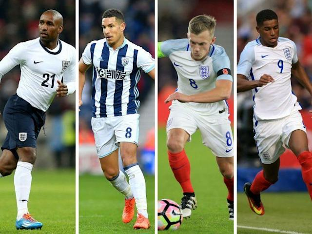 Jermain Defoe, Jake Livermore, James Ward-Prowse and Marcus Rashford have all been named by Gareth Southgate in his England squad for matches against Germany and Lithuania,