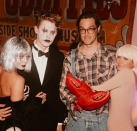 """<p>V-Hudge loves Halloween — and spending time with her <em>High School Musical</em> bestie Ashely Tisdale. The pals, and their partners (Austin Butler and Christopher French), had a ball at their freak-show party. (Photo: <a rel=""""nofollow noopener"""" href=""""https://www.instagram.com/p/Ba9kNOeDoGP/?hl=en&taken-by=vanessahudgens"""" target=""""_blank"""" data-ylk=""""slk:Vanessa Hudgens via Intstagram"""" class=""""link rapid-noclick-resp"""">Vanessa Hudgens via Intstagram</a>) </p>"""