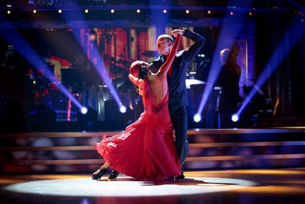 Robert Webb and Dianne Buswell performing earlier this month (Photo: BBC/Guy Levy)