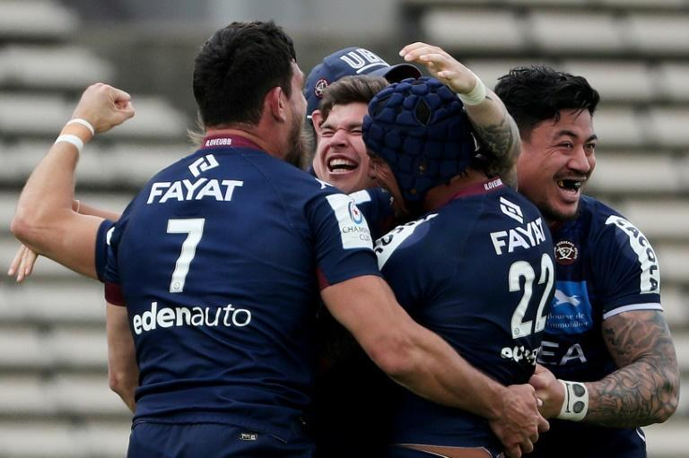 'Poor spectacle': Bordeaux players celebrate their victory over Racing 92