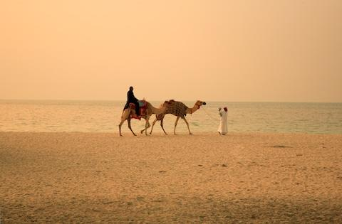 Sandy, natural beaches in Ajman - Credit: istock