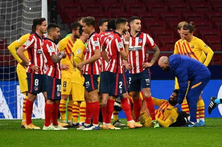 Gerard Pique picked up an injury against Atletico de Madrid