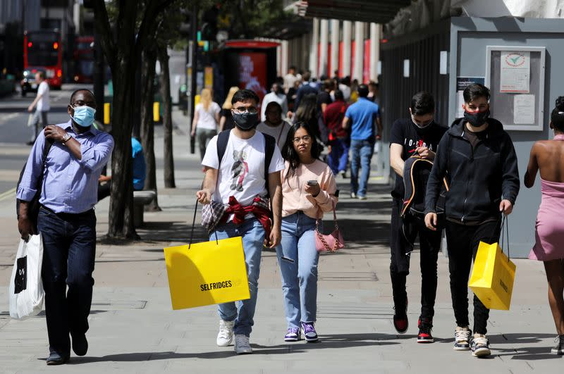 Growth in UK shopper numbers stalls after lockdown easing rush
