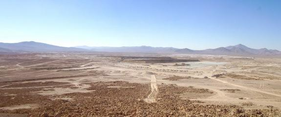 A panoramic view of the Aguas Blancas nitrate/iodine mine.