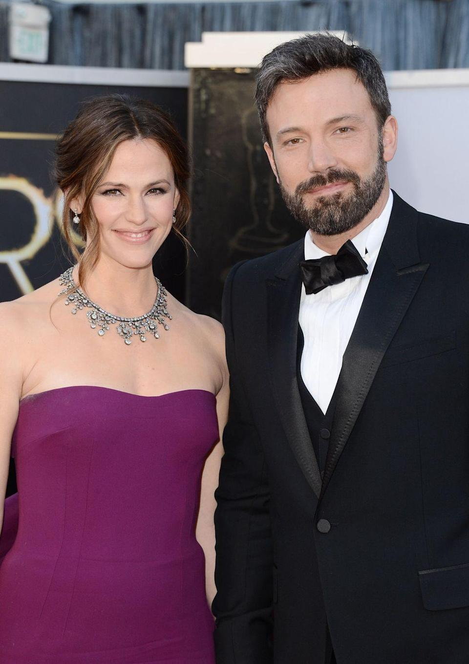 """<p>Less than one year after announcing their separation, Jennifer spoke candidly to <a href=""""https://www.vanityfair.com/hollywood/2016/02/jennifer-garner-talks-kids-career-ben-affleck"""" rel=""""nofollow noopener"""" target=""""_blank"""" data-ylk=""""slk:Vanity Fair"""" class=""""link rapid-noclick-resp"""">Vanity Fair</a> about the 'nannygate' scandal, confirming that the nanny 'was not a part of the equation.' </p><p>Jennifer also offered this about Ben: 'I always say, 'When his sun shines on you, you feel it.' But when the sun is shining elsewhere, it's cold. He can cast quite a shadow.' (Yes, the line is borrowed from The Talented Mr. Ripley, starring Ben's BFF Matt Damon.)</p>"""