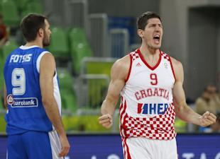 Damjan Rudez (R) at a European Championship tournament game last year. (AP)