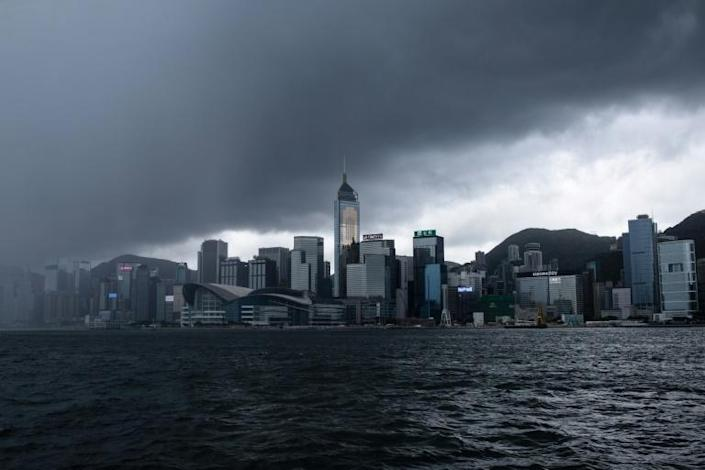 China's new security law has clouded Hong Kong's future as a major international finance hub (AFP Photo/ANTHONY WALLACE)