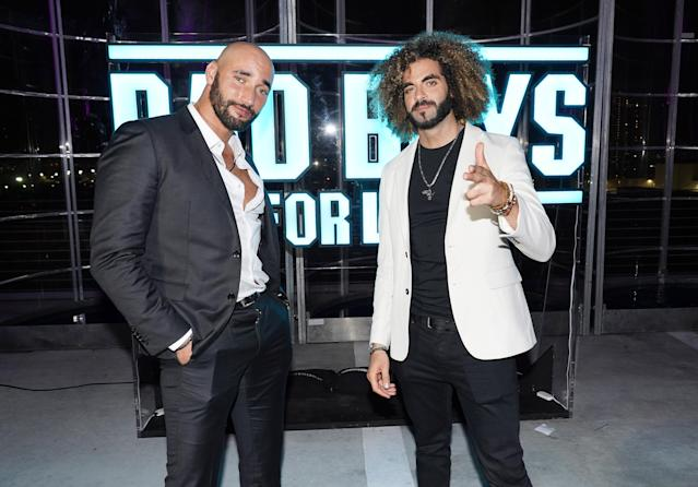"""Bilall Fallah and Adil Er Arbi attend the """"Bad Boys For Life"""" Miami After Party on January 12, 2020. (Photo by Alexander Tamargo/Getty Images for Sony Pictures Entertainment)"""