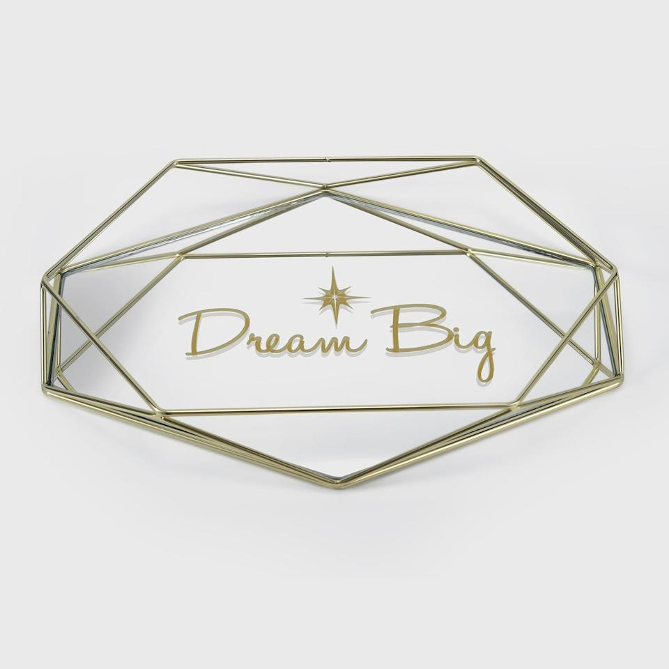 <p>Feel inspired and keep your favorite jewlery pieces in the <span> Disney Princess X POPSUGAR Tiana Dream Big Trinket Tray </span> ($25).</p>