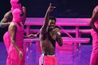 Lil Nas X shown here performing at the VMAs, where he snagged the night's top Video Of the Year award (AFP/ANGELA WEISS)