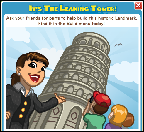 CityVille Leaning Tower