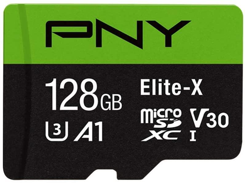 Guarda 45 000 fotos en la tarjeta de memoria flash PNY 128 GB Elite-X Class 10 U3 V30 microSDXC (Foto: Amazon).