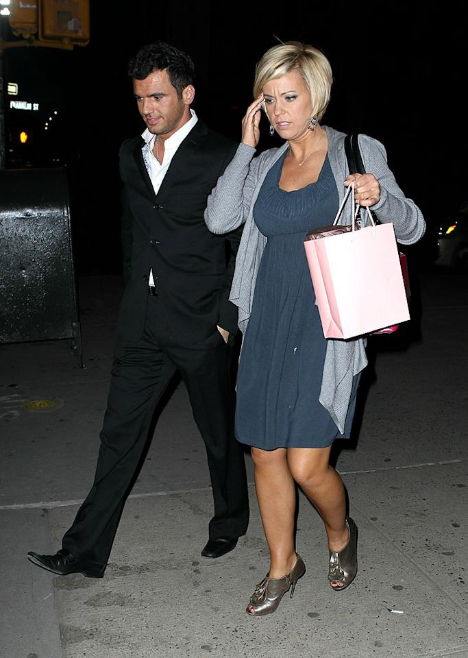 """The hair affair continues... Kate Gosselin was spotted heading out for dinner at Nobu with her """"Dancing With The Stars"""" partner Tony Dovolani after a marathon 7-hour hair appointment at Ted Gibson in New York City. The reality star swapped her longer curly extensions for a shorter variegated bob. Stay tuned for Kate's next tress invention! Jae Donnelly/<a href=""""http://www.infdaily.com"""" target=""""new"""">INFDaily.com</a> - March 10, 2010"""