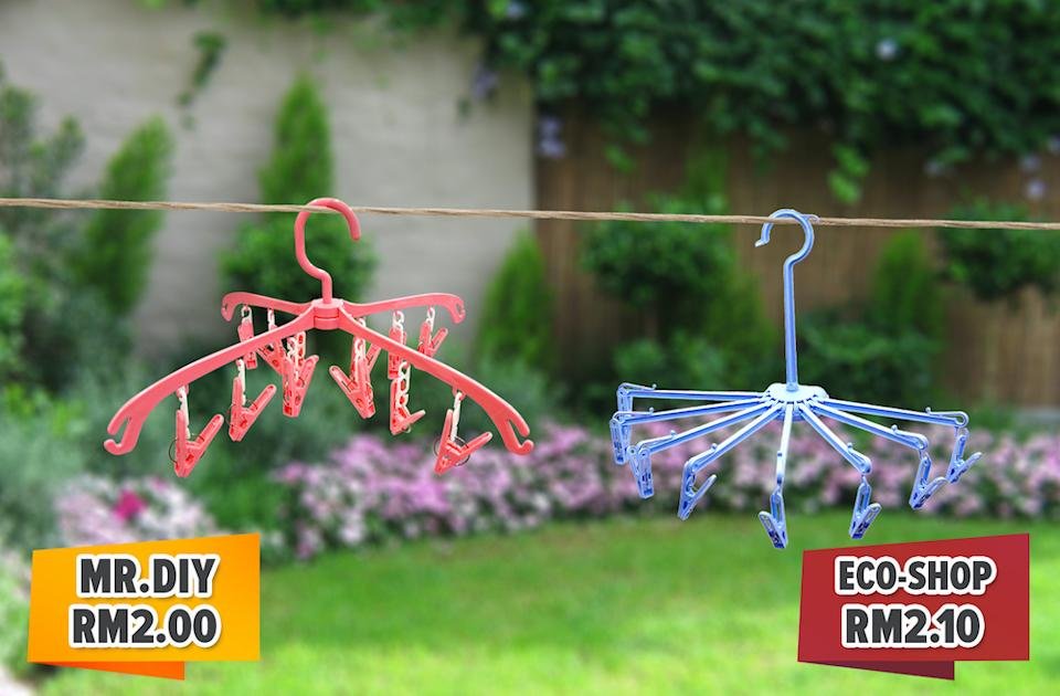 Save space on your clothesline with these convenient hangers.