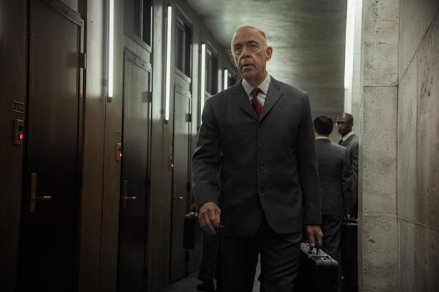 Simmons in 'Counterpart' (Photo: Starz)