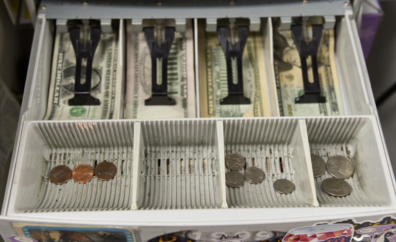 West Reading, PA - July 9: The detail photo of the change drawer of the cash register at Symbiote Collectibles in West Reading Thursday afternoon July 9, 2020. There is currently a coin shortage in the United States. (Photo by Ben Hasty/MediaNews Group/Reading Eagle via Getty Images)