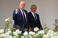 US President Donald Trump and Israeli Prime Minister Benjamin Netanyahu at the White House on September 15, the day when the United Arab Emirates and Bahrain officially recognised Israel