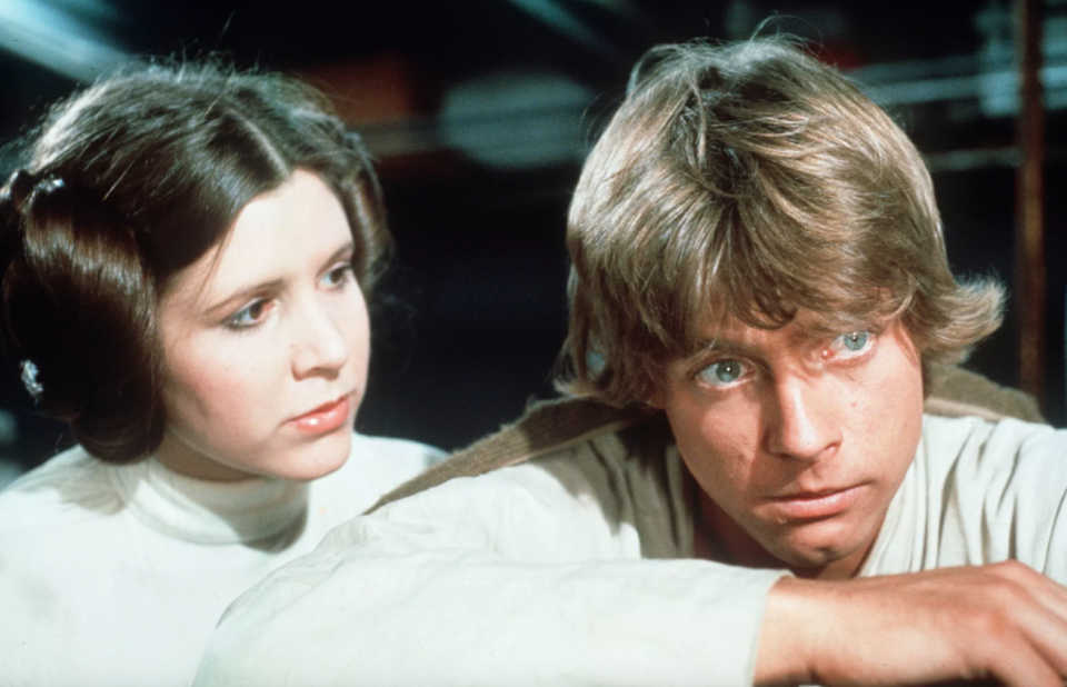 Mark Hamill and Carrie Fisher (Credit: Lucasfilm)