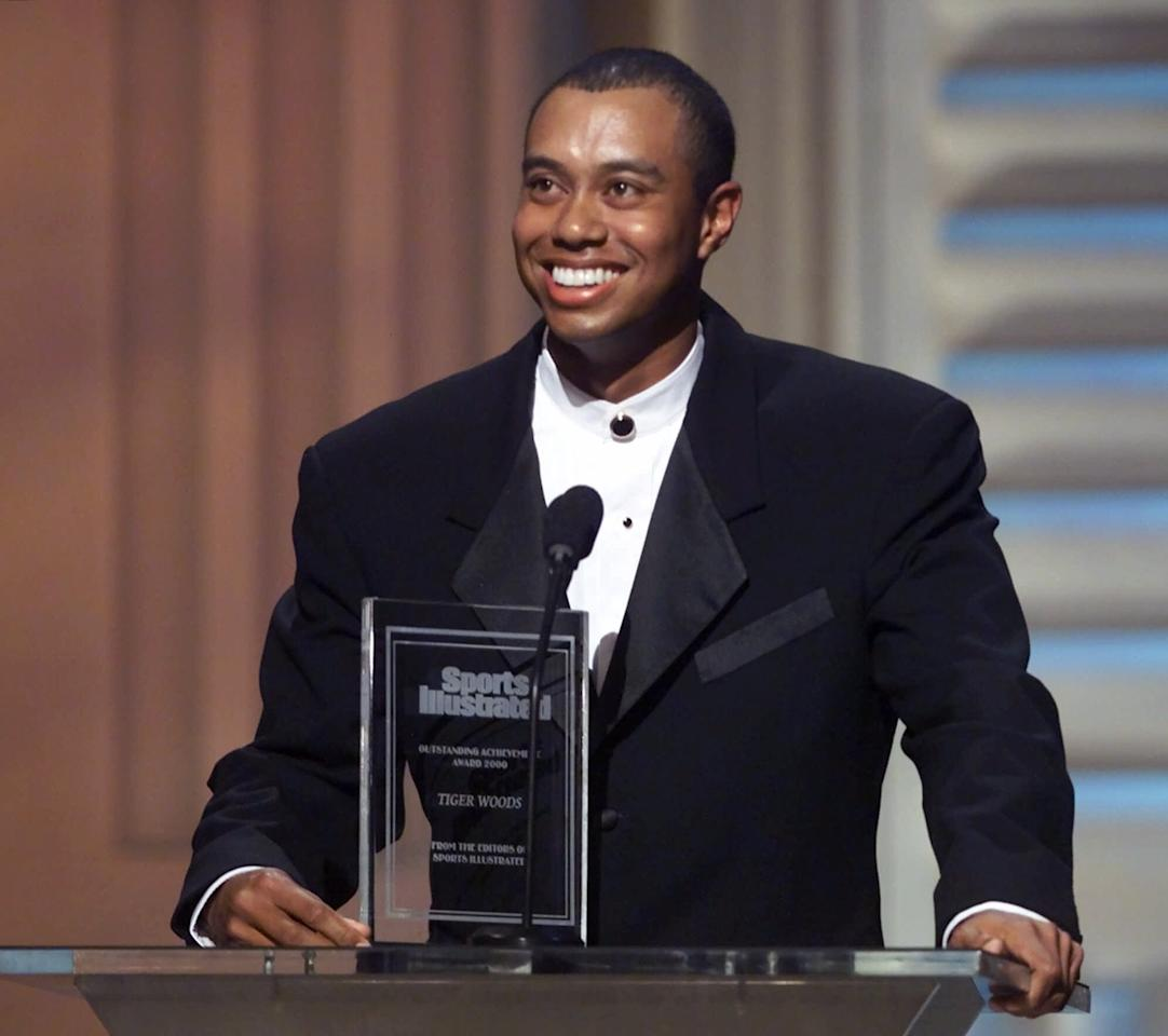 <p>Woods was named Sports Illustrated's Sportsman of the Year for the second time in his career in 2000. That season, he began a stretch of more than five straight years as the world No. 1 ranked golfer. </p>
