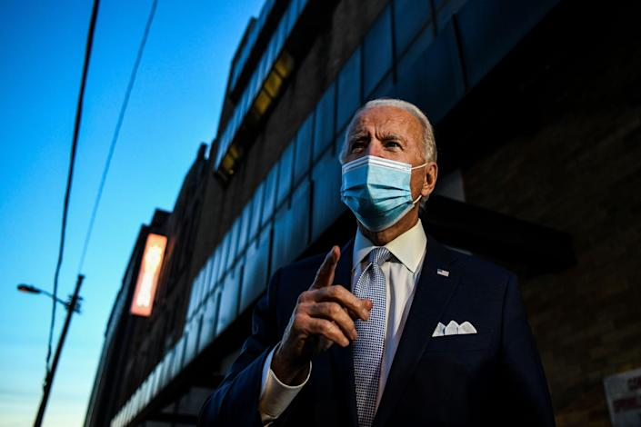 <p>Mr Biden has said he would agree to meet with Mr Trump</p> (AFP via Getty Images)