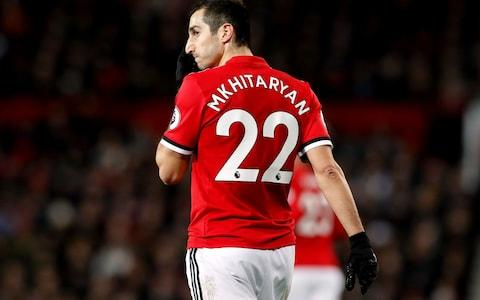 Manchester United's Henrikh Mkhitaryan during the Premier League match at Old Trafford - Credit: PA