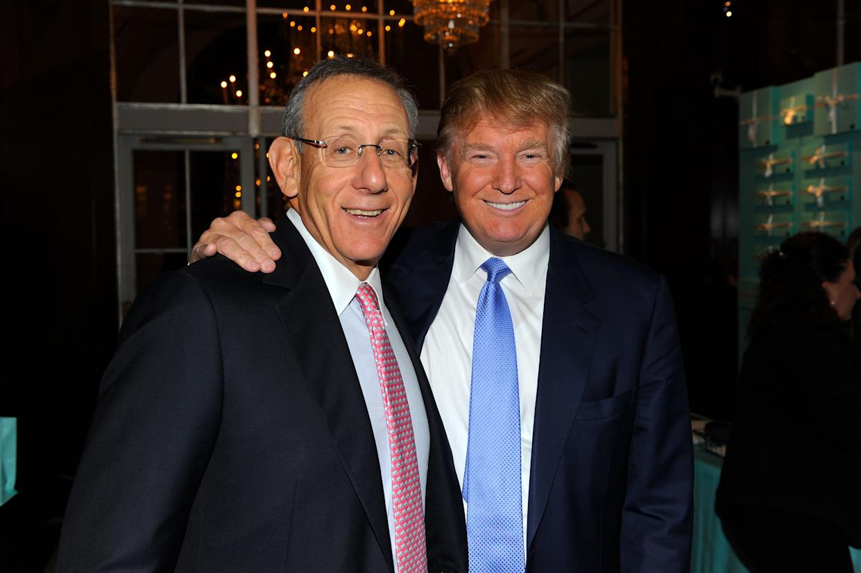 Stephen Ross and Donald Trump attend a charity event at The Waldorf=Astoria in New York City in 2010.  (Photo by Andrew H. Walker/Getty Images)