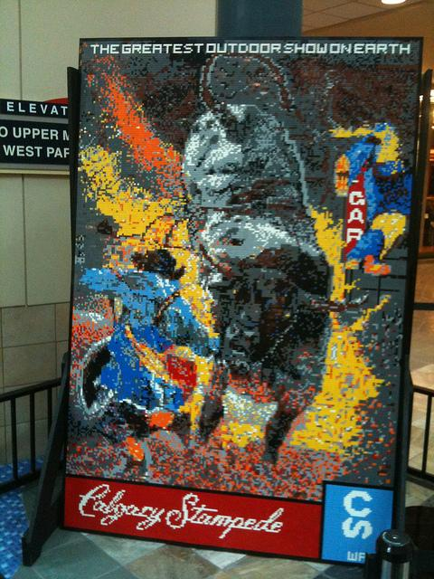Calgary Stampede Lego Mosaic at Chinook Centre by Dave Ware