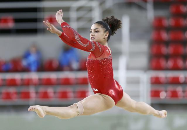Laurie Hernandez will not get the chance to qualify for the women's all-around. (REUTERS)