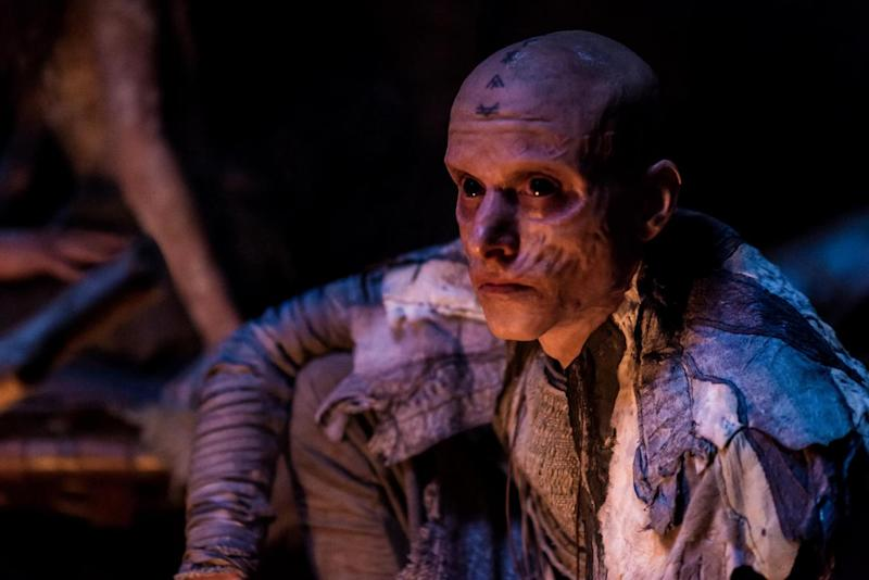 Unrecogonisable: Mackenzie Crook as druid Veran