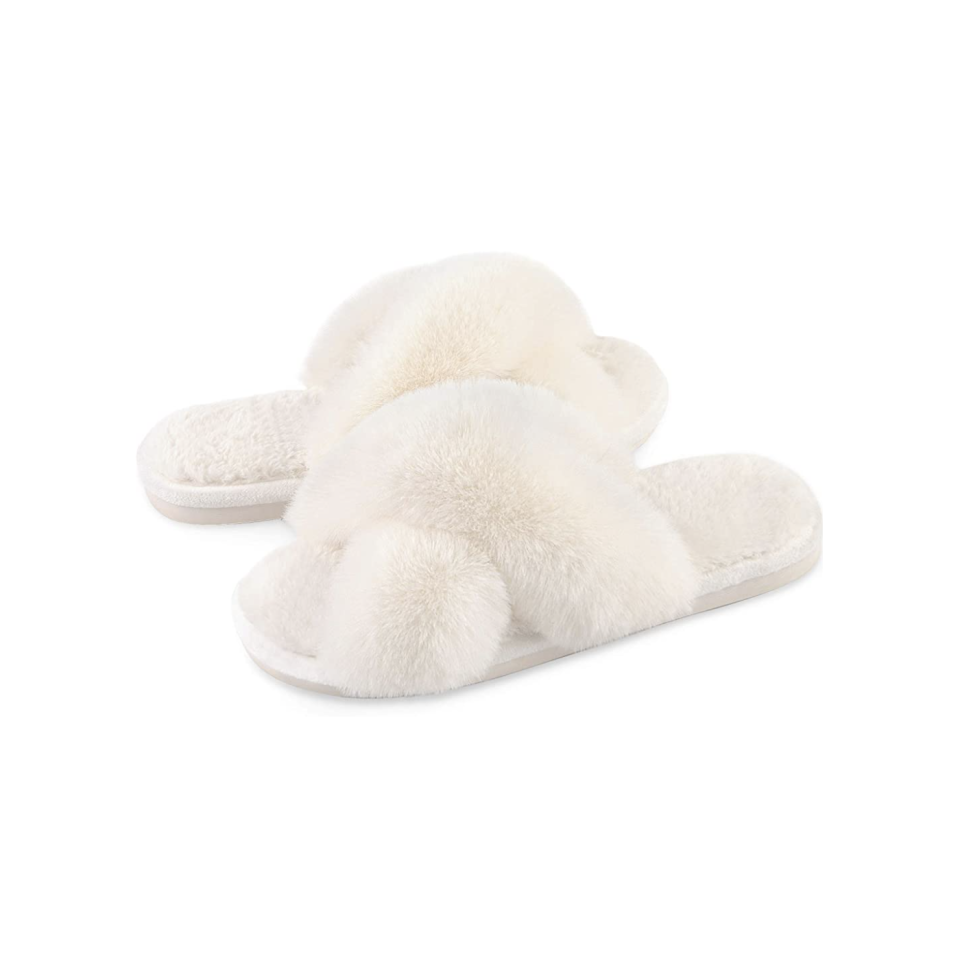 Parlovable Cross Band Slippers Bridal Slippers
