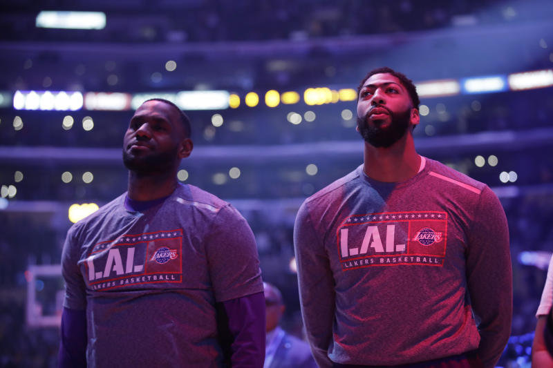 Los Angeles Lakers stars LeBron James and Anthony Davis