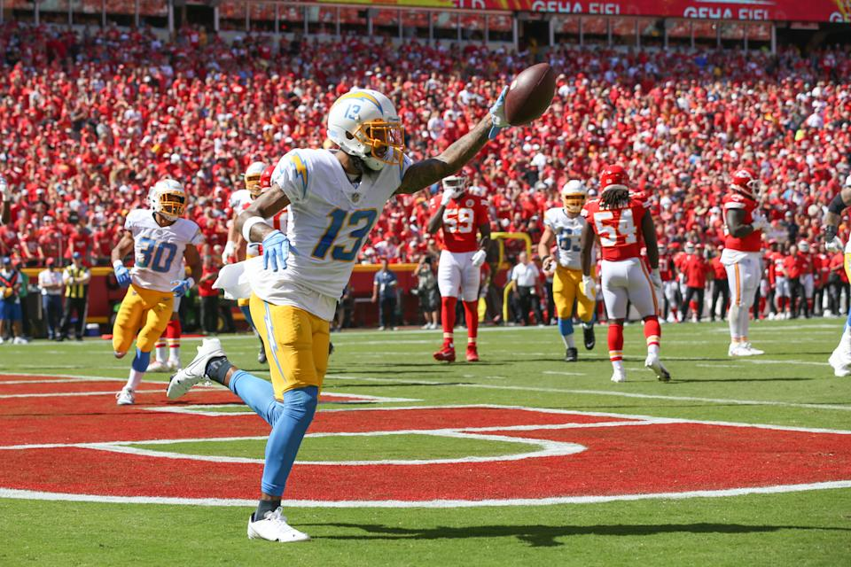 Keenan Allen and the Chargers got a big win at Kansas City in Week 3. (Photo by Scott Winters/Icon Sportswire via Getty Images)