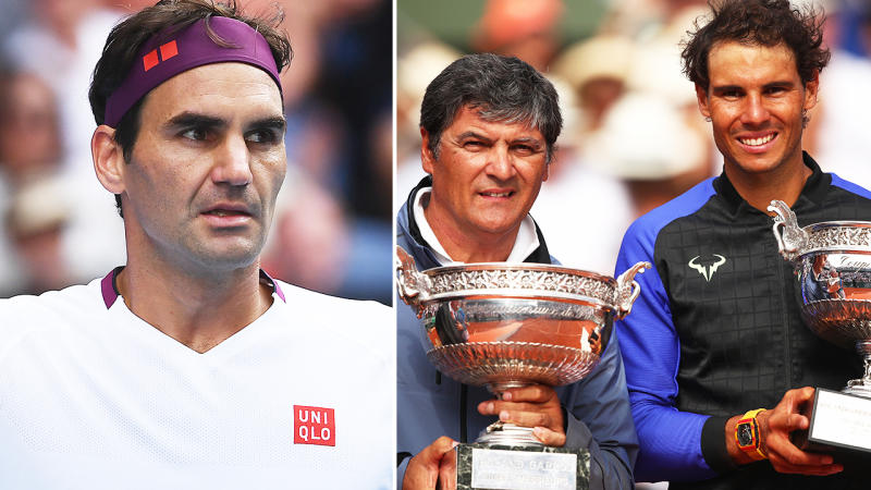 Toni Nadal and Rafael Nadal, pictured here after the 2018 French Open final.