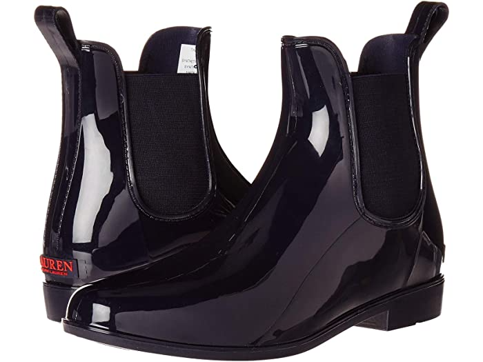 "<h3>LAUREN Ralph Lauren Tally</h3><br>""I absolutely love these rain boots and get compliments every time I wear them. They are nice enough to wear to work but also look great with jeans or casual outfits on the weekends, or even dressed up for a rainy night on the town. Bought them in a rush before a rainy vacation and they were perfect. I added a cheap gel insole, which made them much more comfortable and able to withstand walking 5+ miles per day on my trip. Highly recommended."" – Anonymous<br><br><strong>Lauren Ralph Lauren</strong> Tally, $, available at <a href=""https://go.skimresources.com/?id=30283X879131&url=https%3A%2F%2Fwww.zappos.com%2Fp%2Flauren-ralph-lauren-tally-ocelot-print-black%2Fproduct%2F8453922%2Fcolor%2F842039"" rel=""nofollow noopener"" target=""_blank"" data-ylk=""slk:Zappos"" class=""link rapid-noclick-resp"">Zappos</a>"